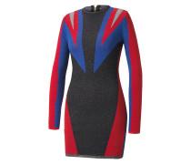 Jacquard-Kleid mit integriertem Glitzergarn