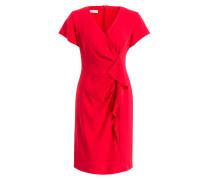 Kleid FLOWER CLASH - rot