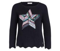 Pullover - dunkelblau/ pink