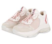 Plateau-Sneaker - WEISS/ NUDE/ FUCHSIA