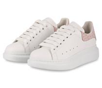 Plateau-Sneaker - WEISS/ ROSE
