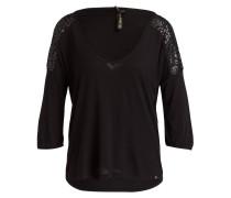 Shirt ANNIKA mit 3/4-Arm - schwarz