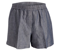 Shorts mit Leinenanteil - dunkelblau
