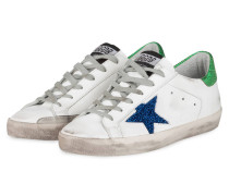 Sneaker SUPERSTAR - WEISS/ BLAU/ GRÜN