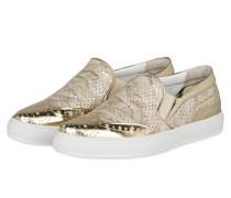 Slip-On-Sneaker CLAIRE - beige/ gold