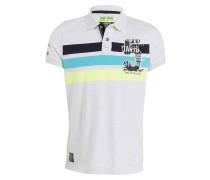 Jersey-Poloshirt - hellgrau meliert