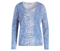 Pullover mit Seidenanteil - blau