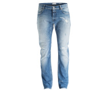 Destroyed-Jeans Slim-Fit