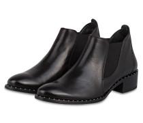 Chelsea-Boots mit Nietenbesatz - schwarz