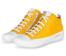 Hightop-Sneaker MID - WEISS/ DUNKELGELB