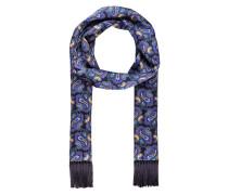 Seidenschal - dunkelblau/ blau/ lila