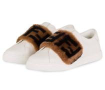 Slip-on-Sneaker - WEISS/ BRAUN/ SCHWARZ