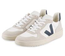 Sneaker V-10 - OFFWHITE/ DUNKELBLAU