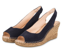 Peeptoe-Wedges - navy