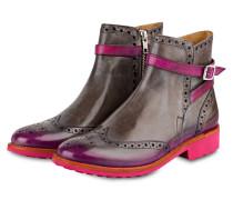 Boots AMELIE - GRAU/ FUCHSIA