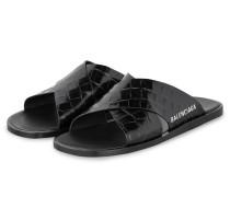 Pantoletten - 1006  BLACK/WHITE