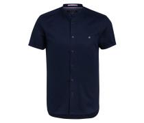 Halbarm-Hemd GLATE Extra Slim Fit mit Leinen und