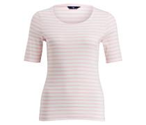 T-Shirt - hellrosa/ weiss gestreift