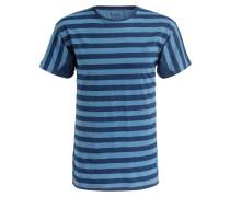 T-Shirt - navy/ hellblau gestreift