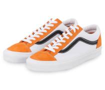 Sneaker STYLE 36 - WEISS/ ORANGE/ SCHWARZ