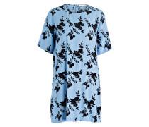 Kleid ADELAIDE - hellblau/ schwarz