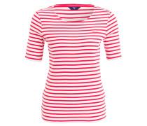 T-Shirt - pink/ weiss gestreift