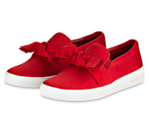 Satin-Sneaker WILLA - bright red