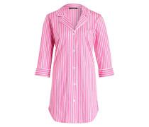 Nachthemd - pink/ weiss/ lime gestreift
