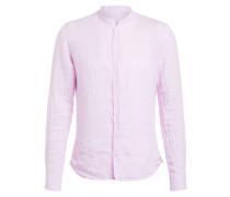Leinenhemd RENE Extra Slim Fit mit Stehkragen