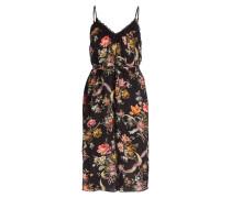 Kleid RAINBOW ROSE - schwarz/ rosa/ mint