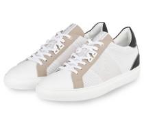 Sneaker NIZZA - WEISS/ TAUPE/ SCHWARZ
