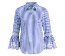 Bluse ASHOREY - blau/ weiss