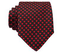Krawatte - schwarz/ rot