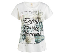 T-Shirt ENJOY im Materialmix