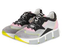 Plateau-Sneaker - GRAU/ ROSE/ SCHWARZ