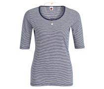 T-Shirt mit Kette - navy/ weiss gestreift