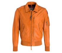 Lederblouson BRIGADIER-M - orange