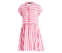 Kleid - pink/ weiss gestreift