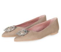 Ballerinas ANGELIS mit Schmucksteinbesatz