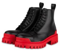Plateau-Boots STRIKE - SCHWARZ/ ROT