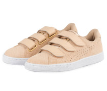 Sneaker BASKET STRAP EXOTIC SKIN - rosé