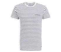 T-Shirt - offwhite/ navy gestreift