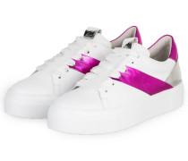 Plateau-Sneaker BIG - WEISS/ LILA/ SILBER