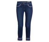 7/8-Jeans mit Stickereien