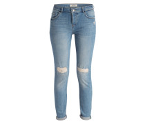 Destroyed-Jeans - light blue denim
