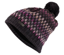 Mütze - anthrazit/ violett