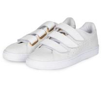 Sneaker BASKET STRAP EXOTIC SKIN - WEISS
