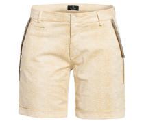 Shorts mit Schmucksteinbesatz