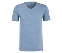 T-Shirt Level Five body fit - rauchblau