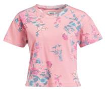 T-Shirt - lachs/ petrol